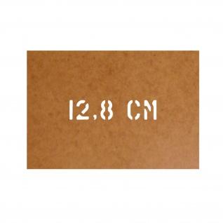 12, 8 cm Flak Schablone Ölkarton Lackierschablone 2, 5x11cm #15196