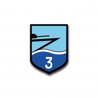 Aufkleber/Sticker Zerstörer Z3 Schiff Deutschland Militär BRD 7x5cm A1443