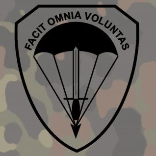 Aufkleber 1.KdoKp KSK Kommandokompanie Kompanie Wappen - 15x13cm #A220