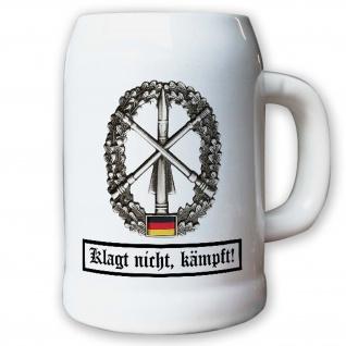 Krug / Bierkrug 0, 5l - Barettabezeichen Flugabwehr Heer Patriot Raketen #10915