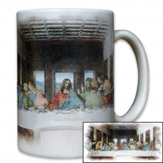 Das letzte Abendmahl Gott Jesus Christi Tafel Glaube Religion - Tasse #8118