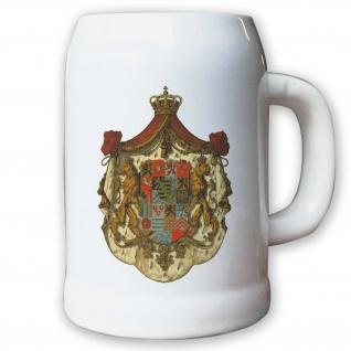 Krug / Bierkrug 0, 5l - Herzogtum Sachsen-Coburg und Gotha Wappen Abzeichen #9444