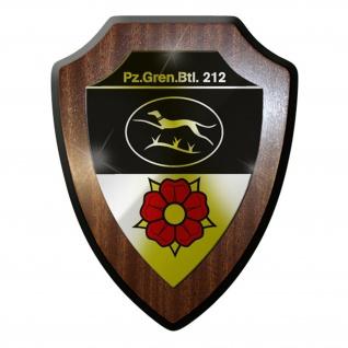 Wappenschild / Wandschild / - PzGrenBtl 212 Panzergrenadierbataillon 212 #8411