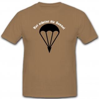 rot scheint die Sonne deutsche Fallschirmjäger Springer para T Shirt #6520