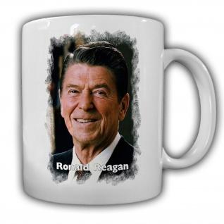 Tasse Präsident Ronald Reagan 40 Präsident Amerika America USA Kaffee #14139
