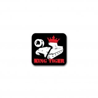 Aufkleber/Sticker King Tiger Königstiger Panzer Panzerkampfwagen 8x7cm A2693