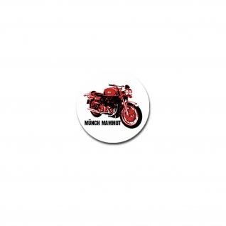Münch Mammut Aufkleber Sticker Motorrad Hersteller Oldtimer Biker 7x7cm#A4290