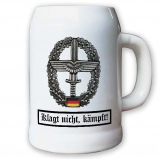 Krug / Bierkrug 0, 5l - Barettabezeichen Heeresflieger Transportstaffel #10916