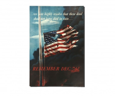 Poster US Remember Dec 7th Army America Pearl Harbor Hawaii ab 30x21cm #31068