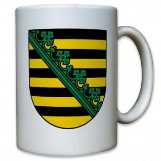 Provinz Sachsen Preußen Dresden Elbe Wappen Deutschland - Tasse Kaffee #9516