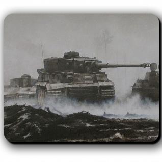 Tiger Panzer Aquarell Front Zeichnung Panzerkampfwagen VI - Mauspad #13796