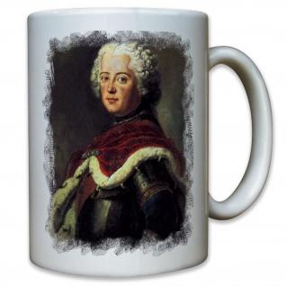 Friedrich der Große alter Fritz Deutschland Preußen Portrait - Tasse #11377