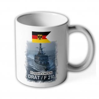 Tasse Fregatte EMDEN DRAT - F 210_Marine Bundeswehr Bundesmarine Schiff #13972