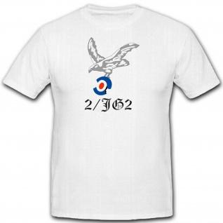 2JG2 Jagdgeschwader WK Luftwaffe Wappen Emblem Abzeichen - T Shirt #2460