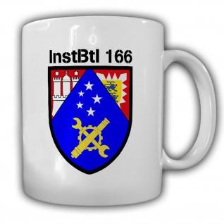 InstBtl 166 Instandsetzungsbataillon Boostedt BW Wappen Abzeichen Tasse #16315