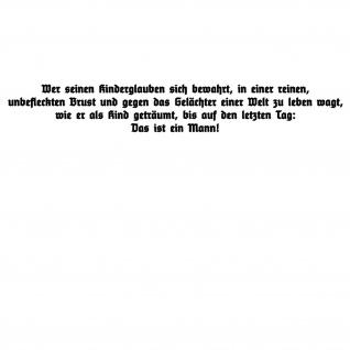Henning von Tresckow Überzeugung Kind Glaube Wandtattoo 120x17cm #A5121