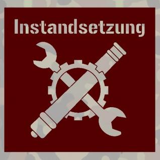Lackierschablonen Aufkleber Instandsetzung Bundeswehr Abzeichen 15x14cm A463