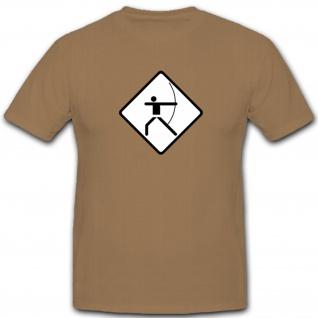 Bogenschütze Sport Pfeil Hobby Spaß - T Shirt #4316