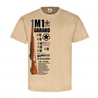 M1 Grand Rifle Us Army Gewehr Deko Sportschütze USA Amerika T-Shirt #20273