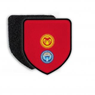 Patch Kyrgyzstan Bischkek Dscheenbekow Landesemblem Sonne Berge Wappen #21943