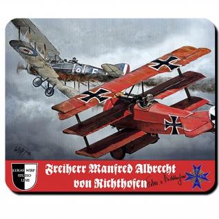 Mauspad Lukas Wirp Roter Baron Manfred von Richthofen Luftkampf Flugzeug #23478