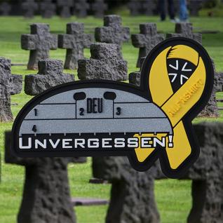 3D Patch Unvergessen Gelbe Schleife Alfashirt Erkennungsmarke Bundeswehr #32706 - Vorschau 2