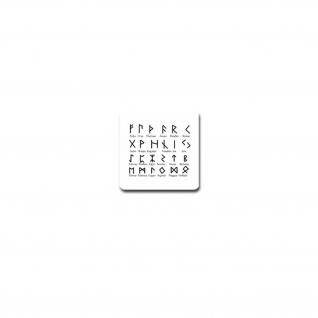 Germanische Runen Aufkleber Sticker Schriftzeichen Germanen Zeichen 7x7cm#A4077