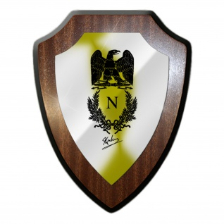 Wappenschild Napoleon Bonaparte Siegel Adler Unterschrift Kaiser France #27028