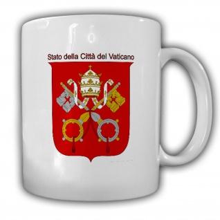 Tasse Staat Vatikanstadt Wappen Emblem Stato della Città del #14017