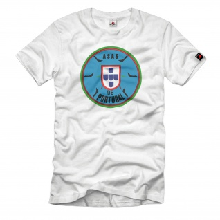 Asas de Portugal Força Aérea Portuguesa FAP Logo Wappen Jet PoAF T-Shirt#33384