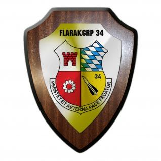Wappenschild Wandschild FlaRakGrp 34 Militär Reservist Abzeichen Einheit #35114
