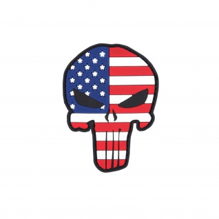 Patch Punisher USA 3D Rubber Amerika Landeswappen Flagge Einheit 8x5cm #23276