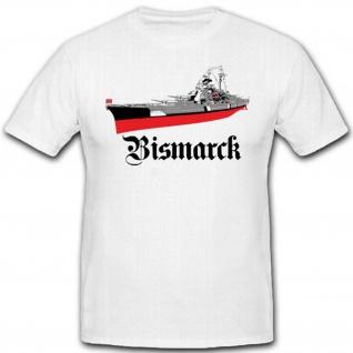 Bismarck Schlachtschiff Marine WK Deutschland Schiff - T Shirt #2681