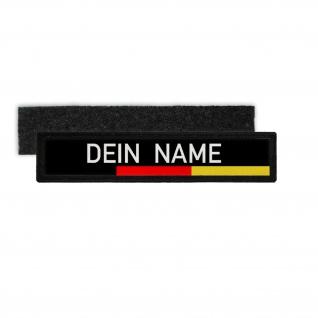 Namenschild Patch Deutschland Uniform personalisiert Jacke Aufnäher #34969