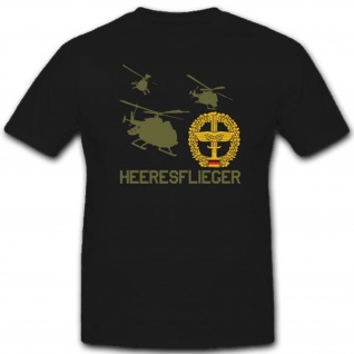 Heeresflieger Hubschrauber Bundeswehr Abzeichen Wappen Emblem - T Shirt #3568