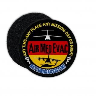 Patch Air Med Evac Rettungsassistent SanDst Bundeswehr Assistent Sanitäter#23814