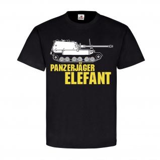 Panzerjäger Elefant Jagdpanzer Ferdinand Tiger Panzer Kurs - T Shirt #18564