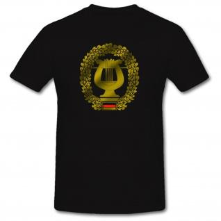 Musikkorps Truppezugehörigkeit Militär Bundeswehr Einheit Wappen Barettabzeichen Heer Musikant Marsch - T Shirt #1093