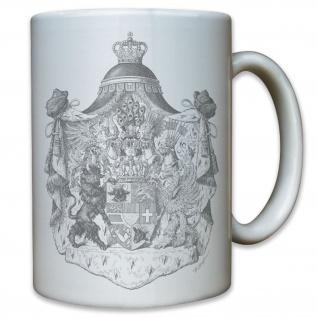 Großherzogtum Mecklenburg-Strelitz Wappen Abzeichen - Tasse Kaffee Becher #11790