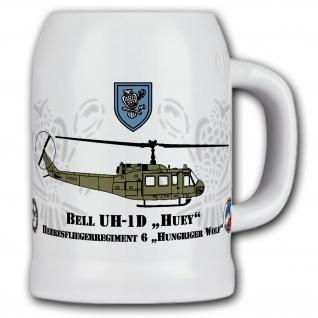 Krug / Bierkrug 0, 5l -HFlgRgt 6 Hungriger Wolf - BELL-1D HUEY 6 #11123