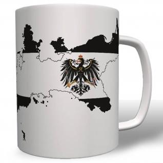 Preußen Königreich Land Landkarte Flagge Wappen Tasse #16663