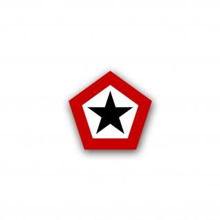 Aufkleber/Sticker Indonesische Kokarde Militär Armee Einheit 7x7cm A1625