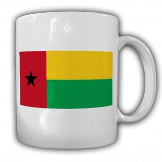 Guinea-Bissau Fahne_Flagge Flag República da Guiné-Bissau Kaffee Becher #13496