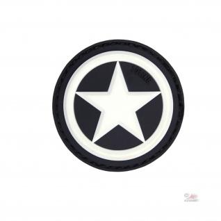 US Star Patch 3D Rubber Allied Amerika USA Stern Vereinigte Staaten 4, 5cm #23001