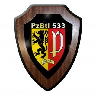 Wappenschild - Panzerbataillon 533 PzBtl ich dien' Wappen Abzeichen #9032