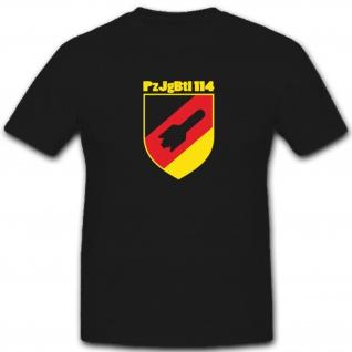 PzJgBtl 114 Panzer Jäger Bataillon Bundeswehr Bw Wappen Abzeichen T Shirt #4856
