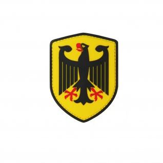 Bundesadler Patch 3D Rubber Adler Deutschland Bundeswehr Polizei 8x6cm #22977