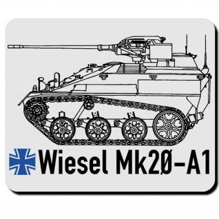 Wiesel Mk20 A1 Bundeswehr Kettenfahrzeug Waffenträger BW - Mauspad #7974 - Vorschau