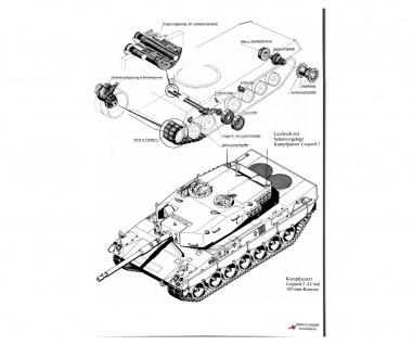 Poster Kampfpanzer Leopard 2AV 105mm Modell Fotoabzug XXL ab 30x21cm #30805