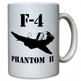 F4 Phantom II Luftwaffe Jagdbomber Kampfflugzeug Flugzeug - Tasse #12363